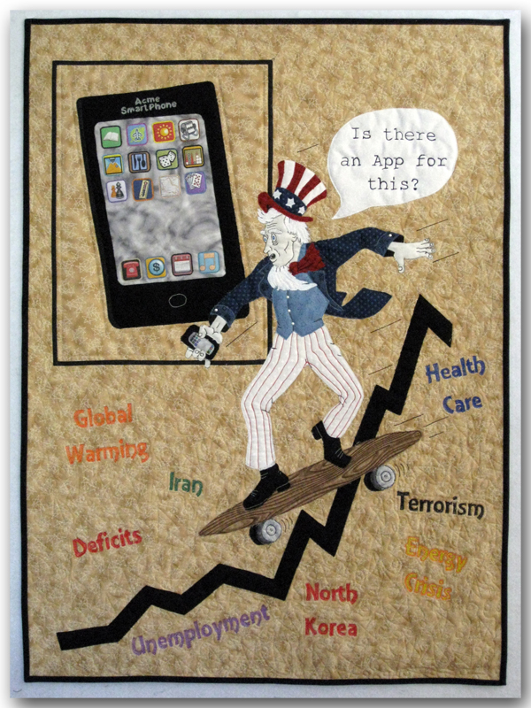 Uncle Sam is wondering how to navigate through the world's problems.
