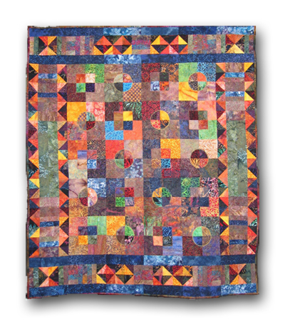The quilt was made for UNIFEM (United Nations Fund for the Development of Women). It was exhibited at the Mid-Atlantic Quilt Festival, February 2007 and AQS Quilt Show, April 25-28, 2007. It was auctioned off on June 22, 2007 and is now in the private collection of author Neale Godfrey.