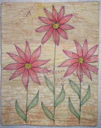 Lazy Daisies Journal Quilt